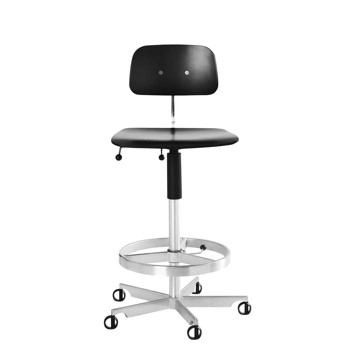 Kevi Chair Contemporary Bar Chair Swivel Adjustable Height Star Base