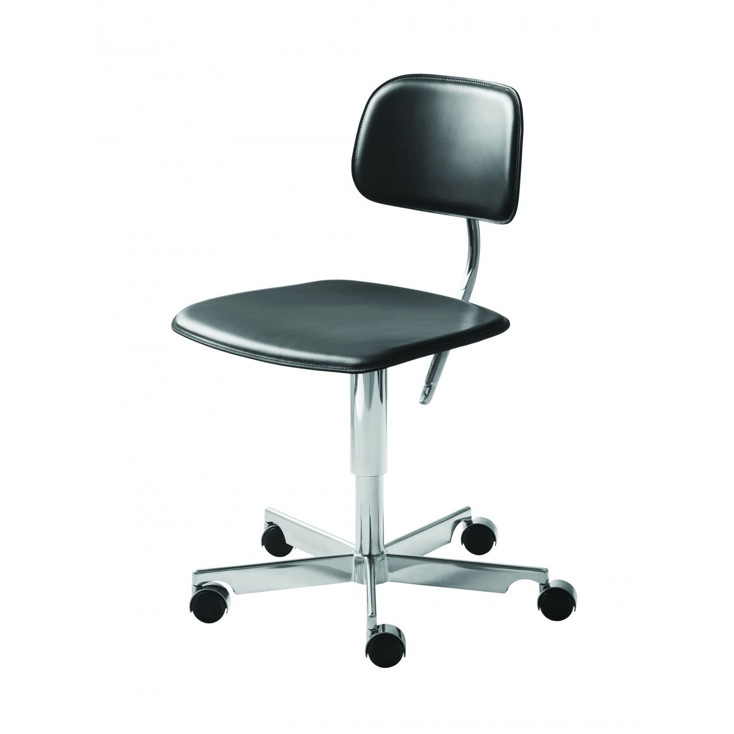 Kevi Chair Aluminum Task Chair Leather Swivel Upholstered Kevi 2050