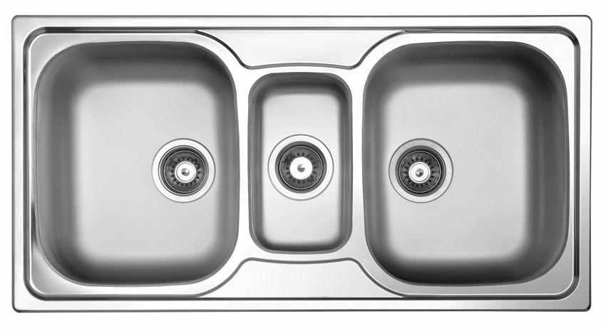 triple bowl kitchen sink sky 550