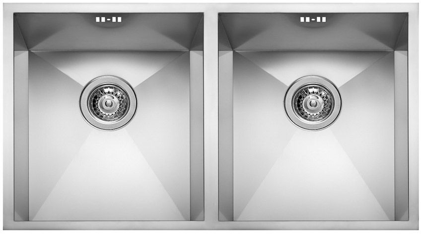 square kitchen sink 42 cabinets double stainless steel 720 2v elleci