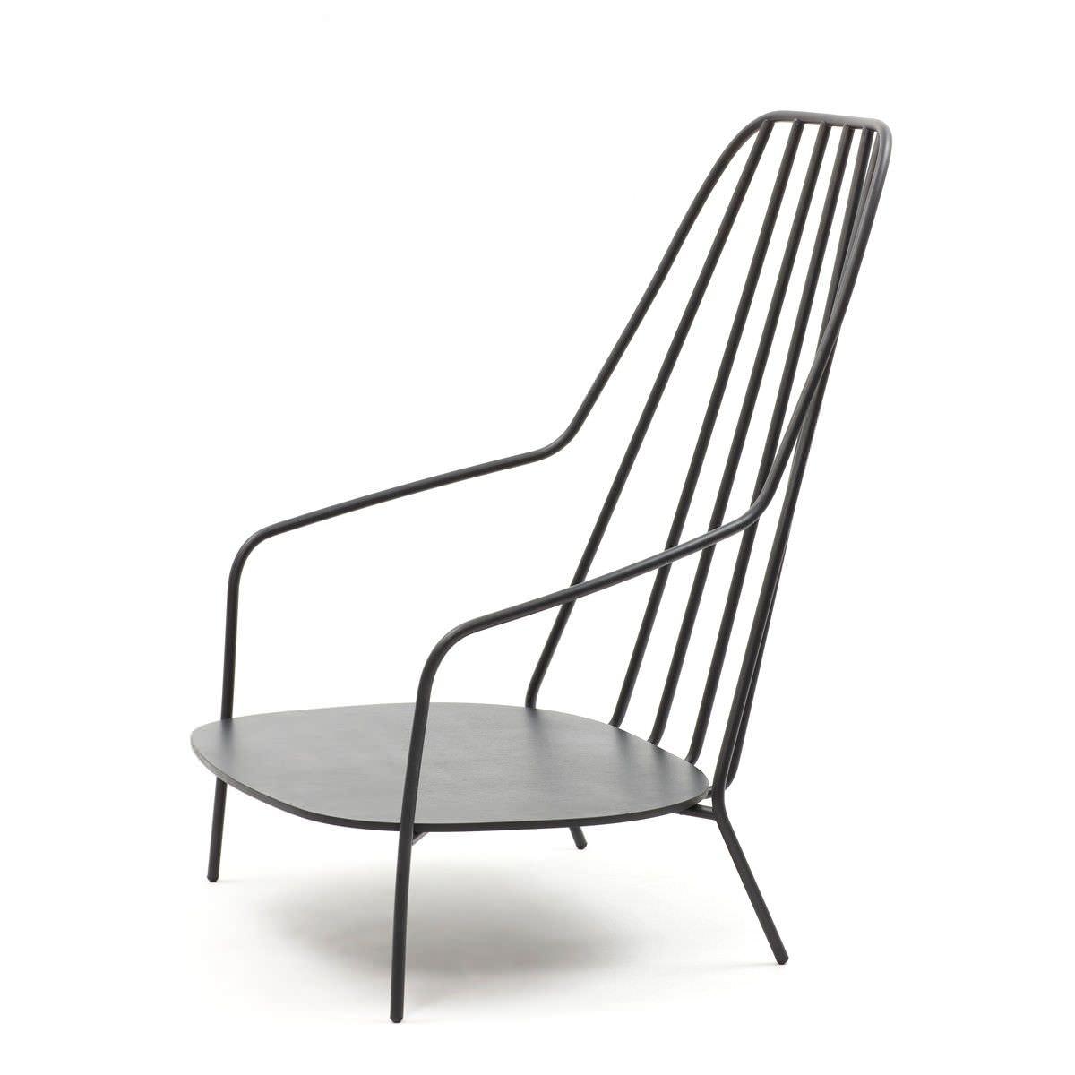 metal armchair children s beach chair with umbrella shoulder straps contemporary paffuta by luca nichetto discipline