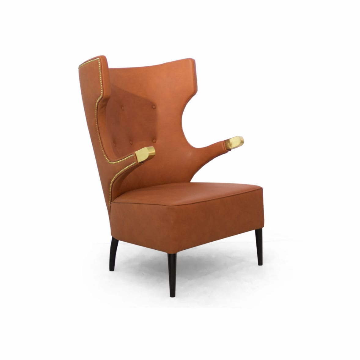 Brown Leather Wingback Chair Sika Contemporary Armchair Synthetic Leather Wing High Back By Brabbu Design Forces Archiexpo