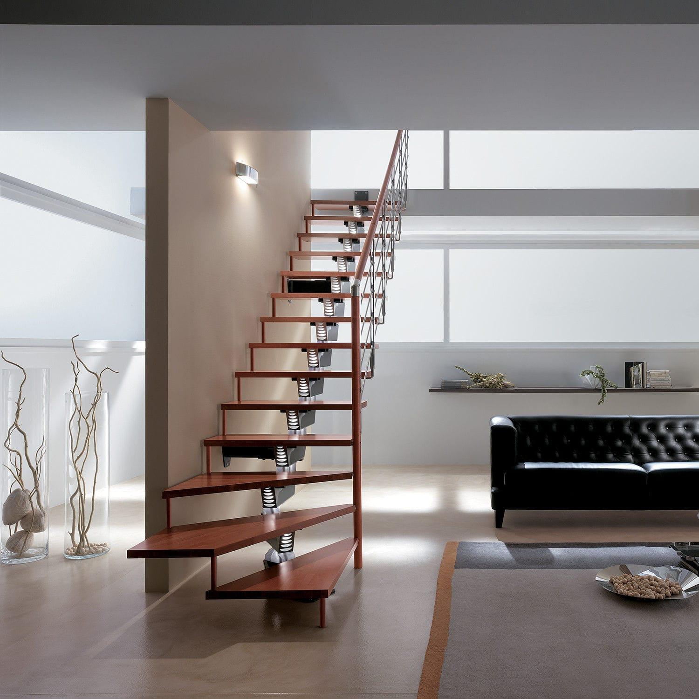 Straight Staircase Knock Design Rintal Quarter Turn Spiral Half Turn
