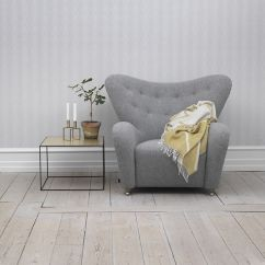 Easy Chairs With Footrests Cream Leather Scandinavian Design Armchair Sheep Skin Footrest Wing The Tired Man