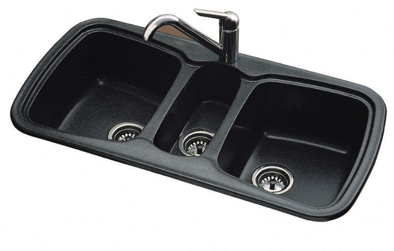 triple bowl kitchen sink onice