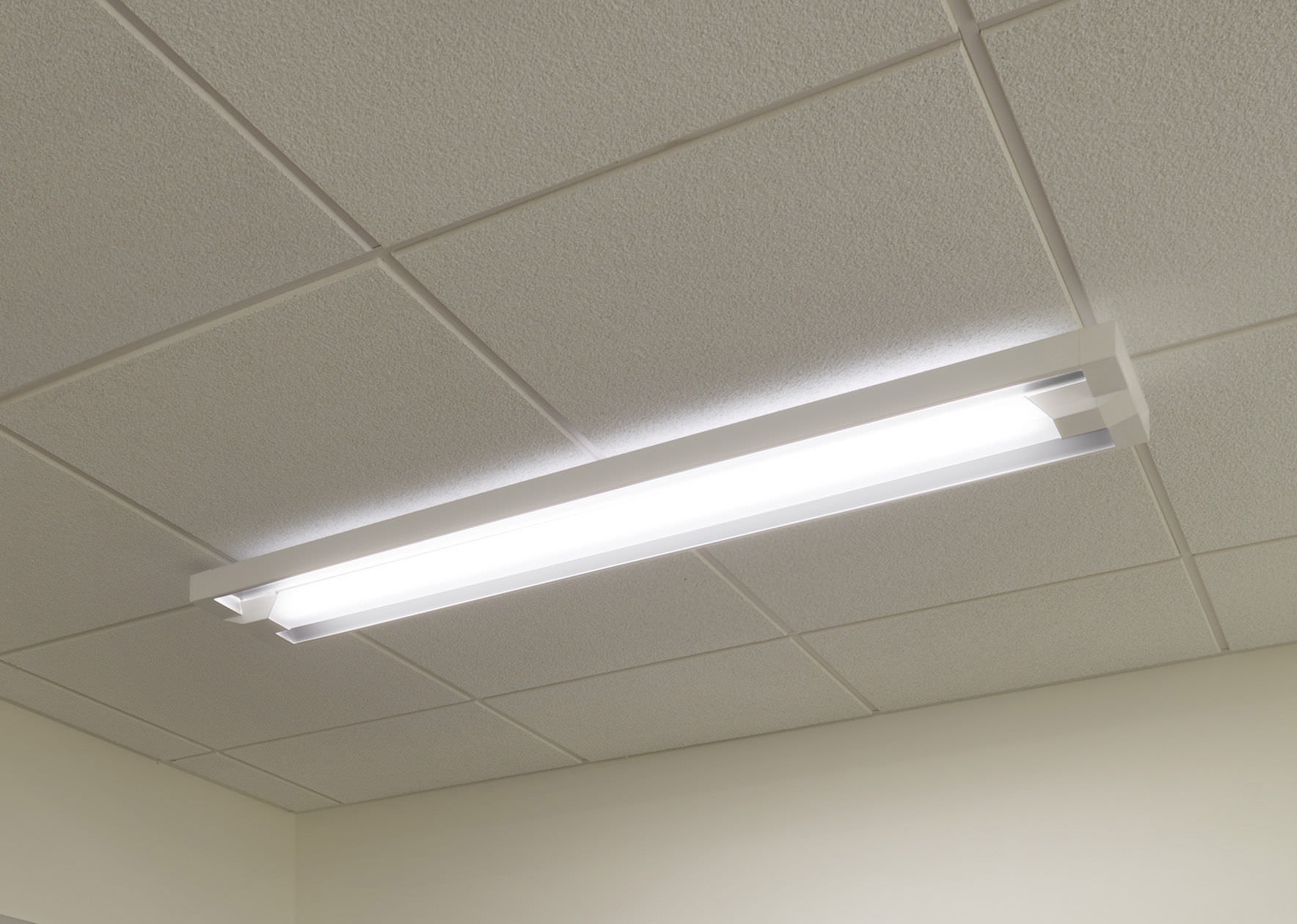 Recessed ceiling light fixture - AERIAL™ - LiteControl - surface-mounted / fluorescent / linear