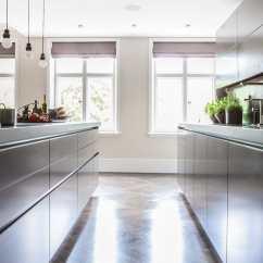 Kitchen Stone Breakfast Bars Contemporary Wood Veneer Island Villa London