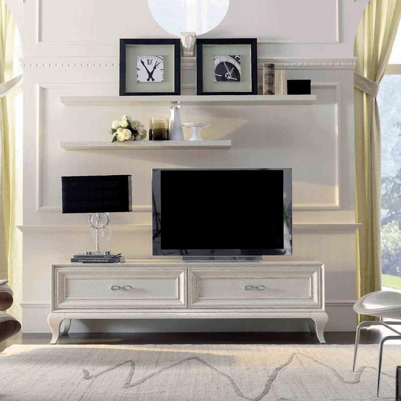 Dai un'occhiata ai nostri mobili e oggetti decorativi e fai i pieno di ispirazione! Traditional Tv Cabinet 9007 F1 Mozzo Giorgio S R L Lacquered Wood White