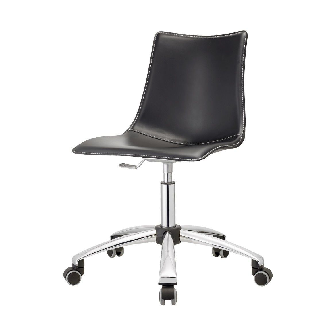 Zebra Desk Chair Contemporary Office Chair On Casters Star Base Upholstered