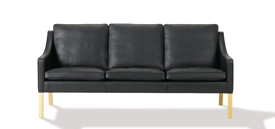 borge mogensen sofa model 2209 kuka china scandinavian design leather 3 seater white by
