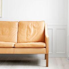 Borge Mogensen Sofa Model 2209 Jonathan Adler Table Scandinavian Design Leather 3 Seater White By
