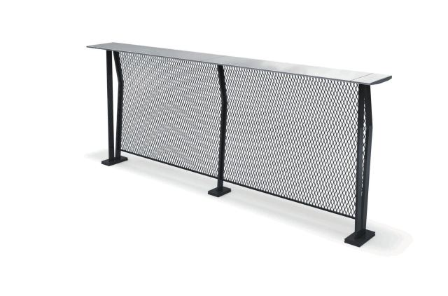 contemporary high bar table / metal / mesh / rectangular - urbanedge