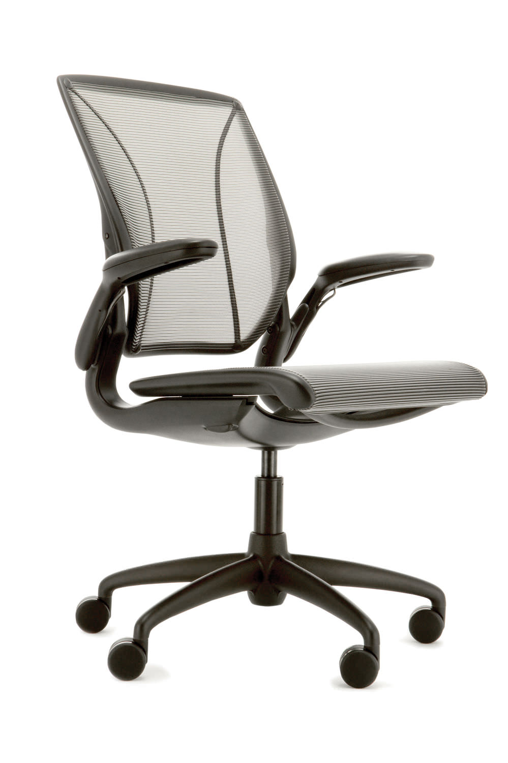 Humanscale Diffrient World Chair Contemporary Office Armchair Mesh On Casters Star Base