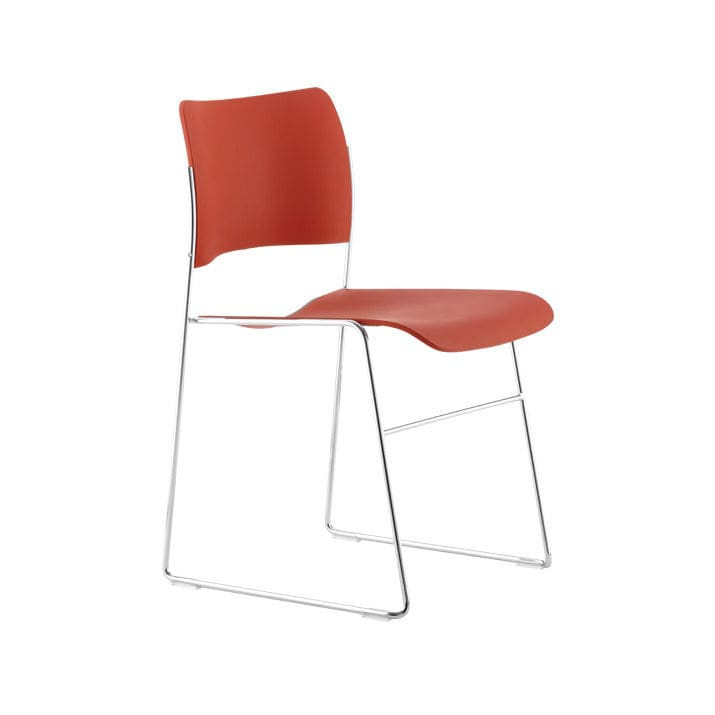 david rowland metal chair warren works contemporary visitor with armrests upholstered stackable 40 4 by