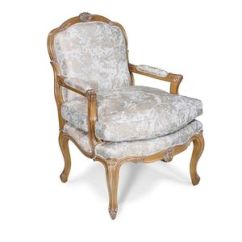 Louis Xv Chair Christmas Wedding Covers Armchair Seat All Architecture And Design Style Fabric Cherrywood Bergere