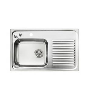 kitchen sinks with drainboard built in wall shelves for sink fitted drainer all single bowl stainless steel