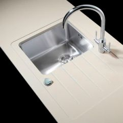 Kitchen Sinks With Drainboard Built In Bling Backsplash Sink Fitted Drainer All Single Bowl Stainless Steel