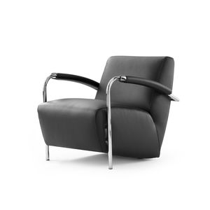 leather chrome chair ikea ektorp armchair all architecture and design manufacturers videos contemporary black