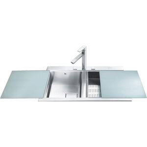 stainless steel kitchen sink brushed