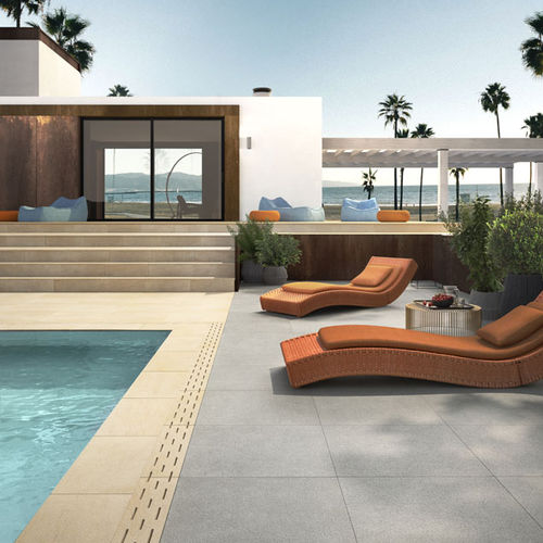 Outdoor tile / for floors / porcelain stoneware / polished SYSTEM L2 : DORAL L2 LEA CERAMICHE