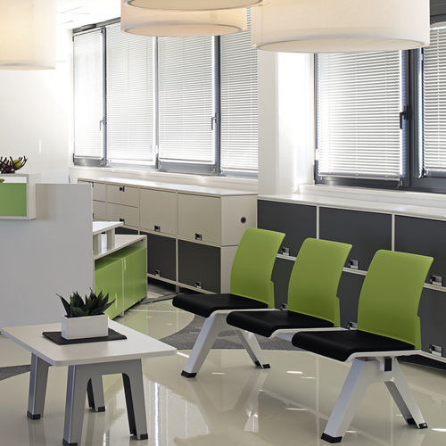 Contemporary beam chair / fabric / metal / 2-seater EASTSIDE Steelcase