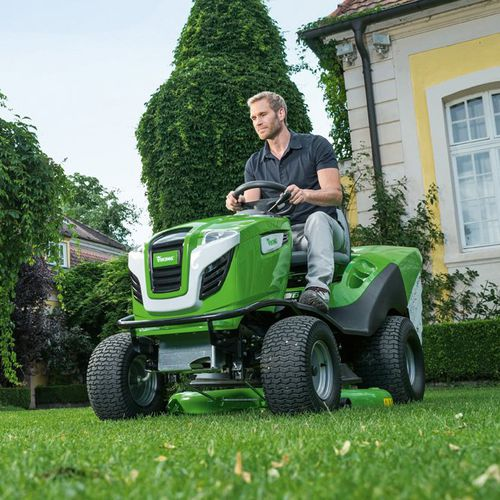 Ride On Lawn Mower Mt 6127 Zl Viking Garden Gasoline Collecting For Large Areas