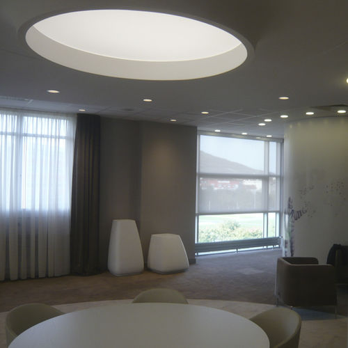recessed ceiling light fixture / LED / round / canvas