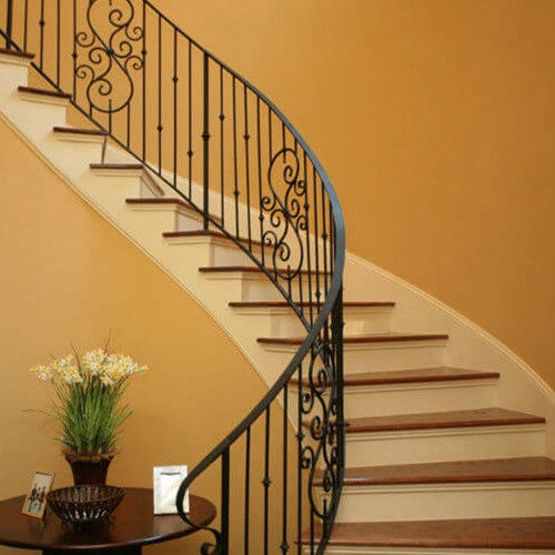 Wrought Iron Railing Sjz Shanzheng Co Ltd With Bars Indoor | Wrought Iron Steps Outdoor | Wood Interior | Current | Iron Handrail | Staircase | Backyard