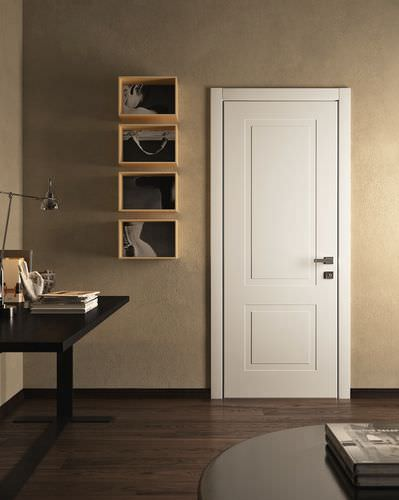 Swing door / oak / armored SOVRANA: mod. Miraquadra 2B GAROFOLI