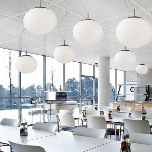 Pendant lamp / contemporary / polyurethane / LED ELIPSE 50 by Alex Fernández Camps & Gonzalo Milà BOVER Barcelona