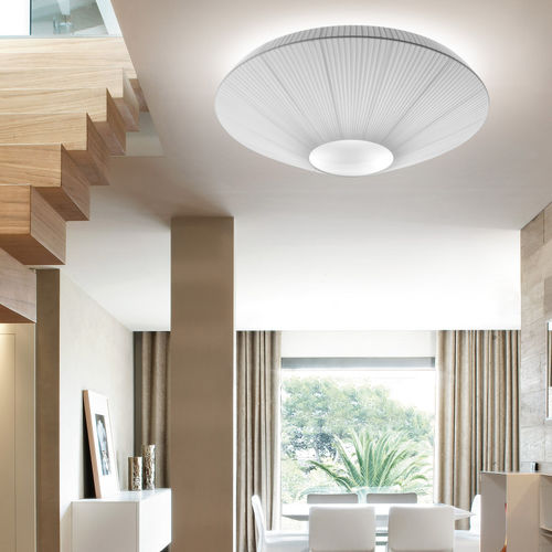 Contemporary ceiling light / round / polyester / methacrylate SIAM 120 by Joana Bover BOVER Barcelona