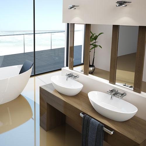Countertop washbasin / oval / acrylic / contemporary NAMUR: 4410 HOESCH Design