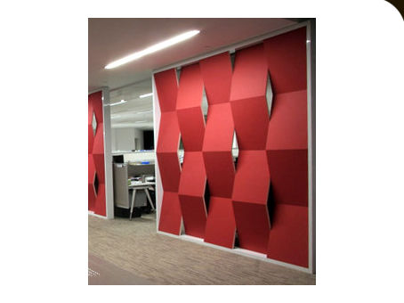 Interior fitting decorative panel / plastic / textured / 3D effect ENERGEX : 258 RED Kirei USA