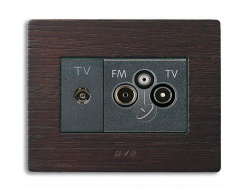 TV socket / SAT / RD / multiple NOIR AX  Ave spa