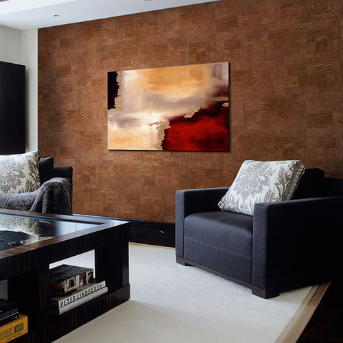 natural cork wallcovering / residential / commercial / tile look
