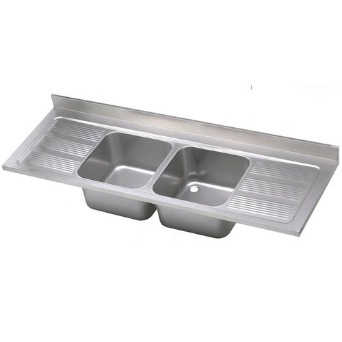 double kitchen sink industrial