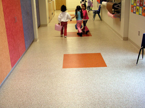 Recycled rubber floor covering / for professional use / polished / stone look REZTEC EXPANKO Cork Co. Inc.