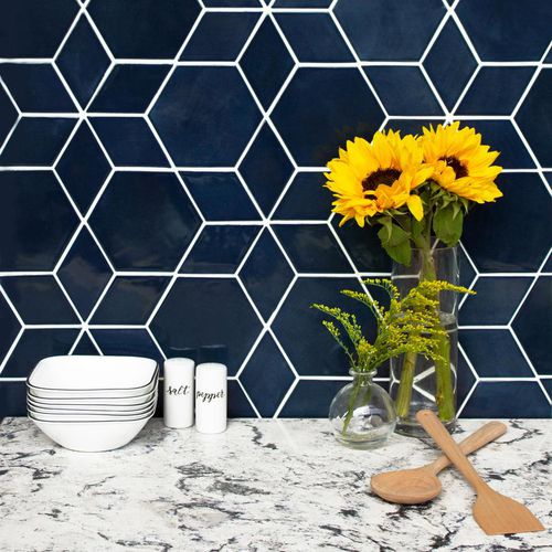 indoor mosaic tile hexagon diamond