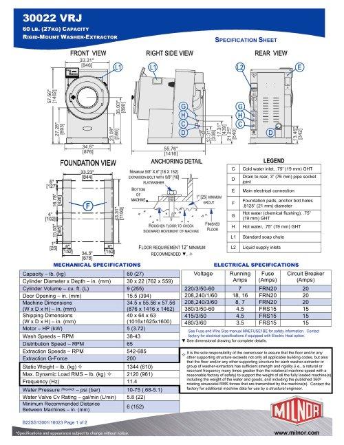 small resolution of 30022vrj milnor pdf catalogs documentation brochures kramer wiring diagrams milnor dryer wiring diagram