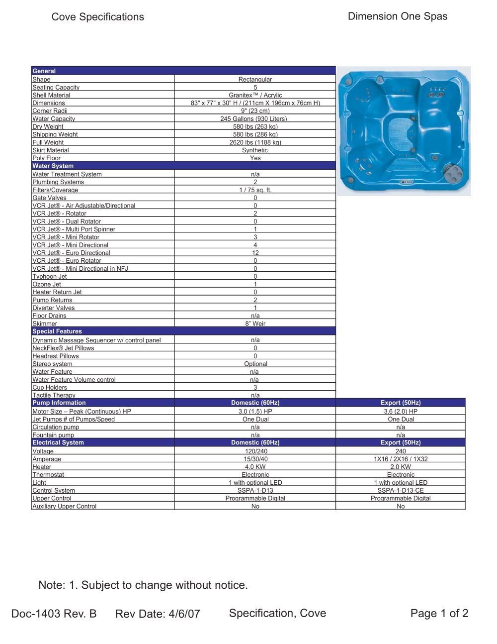 medium resolution of cove dimension one spas pdf catalogues documentation brochures rh pdf archiexpo com master spa wiring diagram jacuzzi spa wiring diagrams