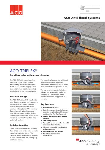 Riplex With Chamber Aco Building Drainage Pdf Catalogs Documentation Brochures