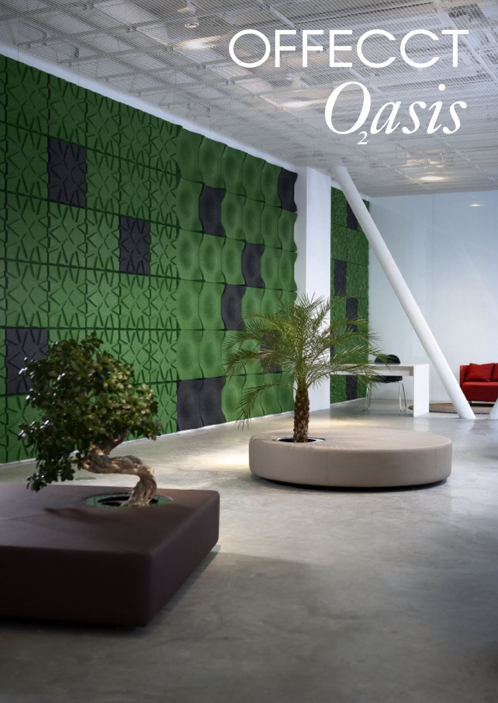 Green Islands Ottomans from Offect