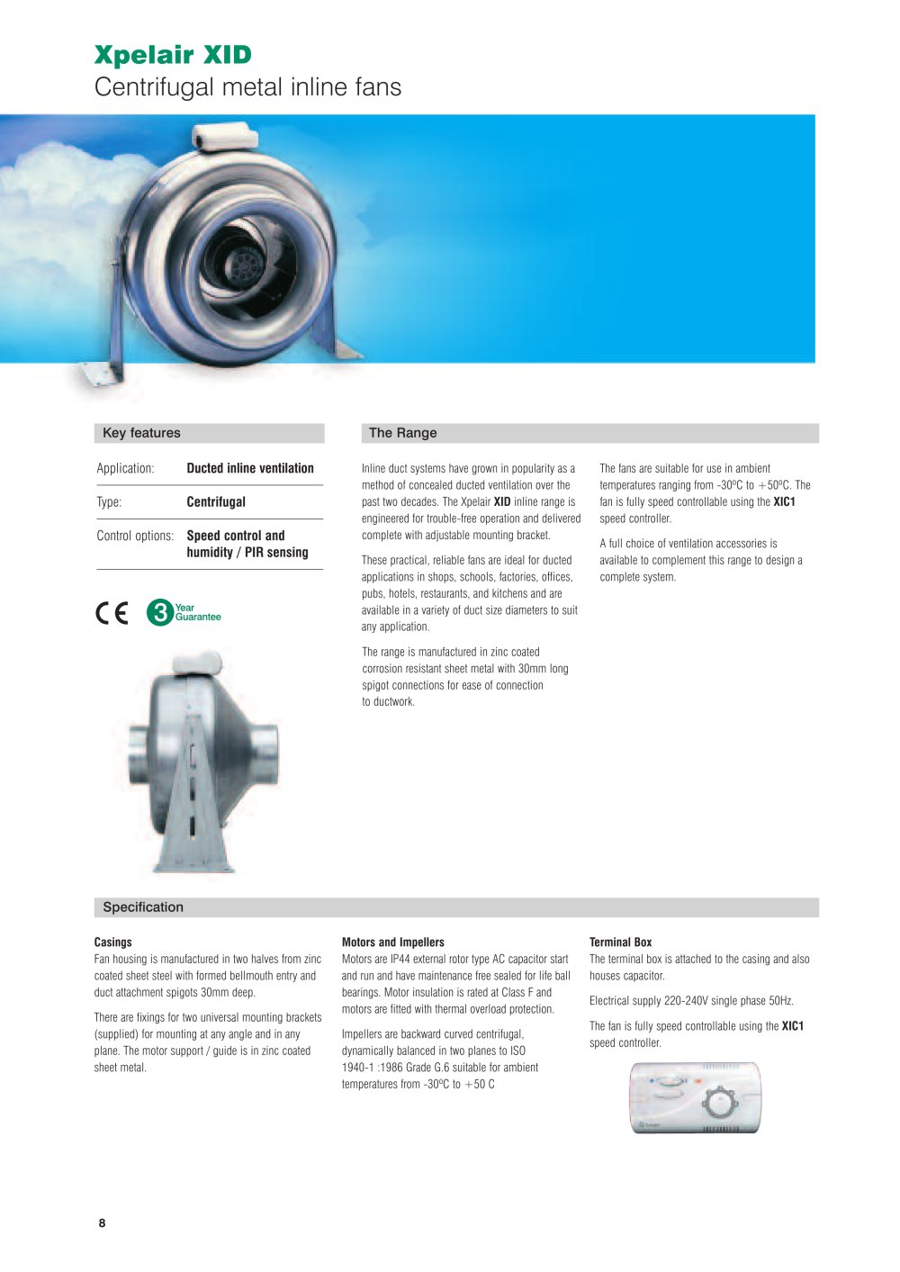 medium resolution of xpelair xid centrifugal metal inline fans 1 84 pages
