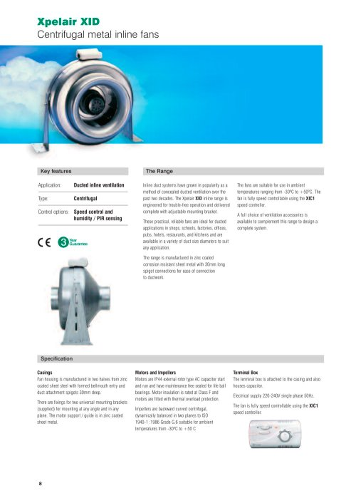 small resolution of xpelair xid centrifugal metal inline fans 1 84 pages