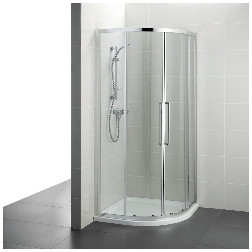 Einflügelige Duschwand / Für Eckeinbau / Gebogen / Glas - T7350