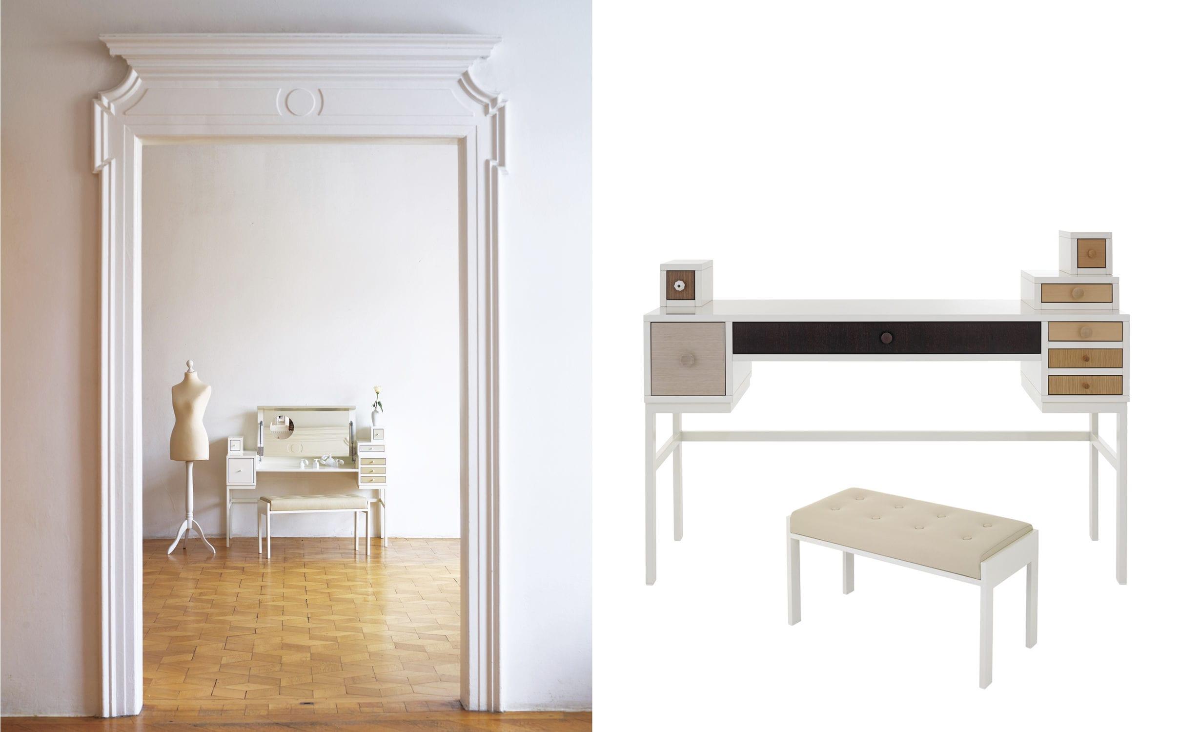 schminktisch mit spiegel collect wis design schonbuch - boisholz, Möbel