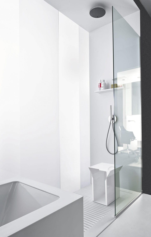 Begehbare Dusche / Glas / Rechteckig - Bathtub – Shower System - Makro