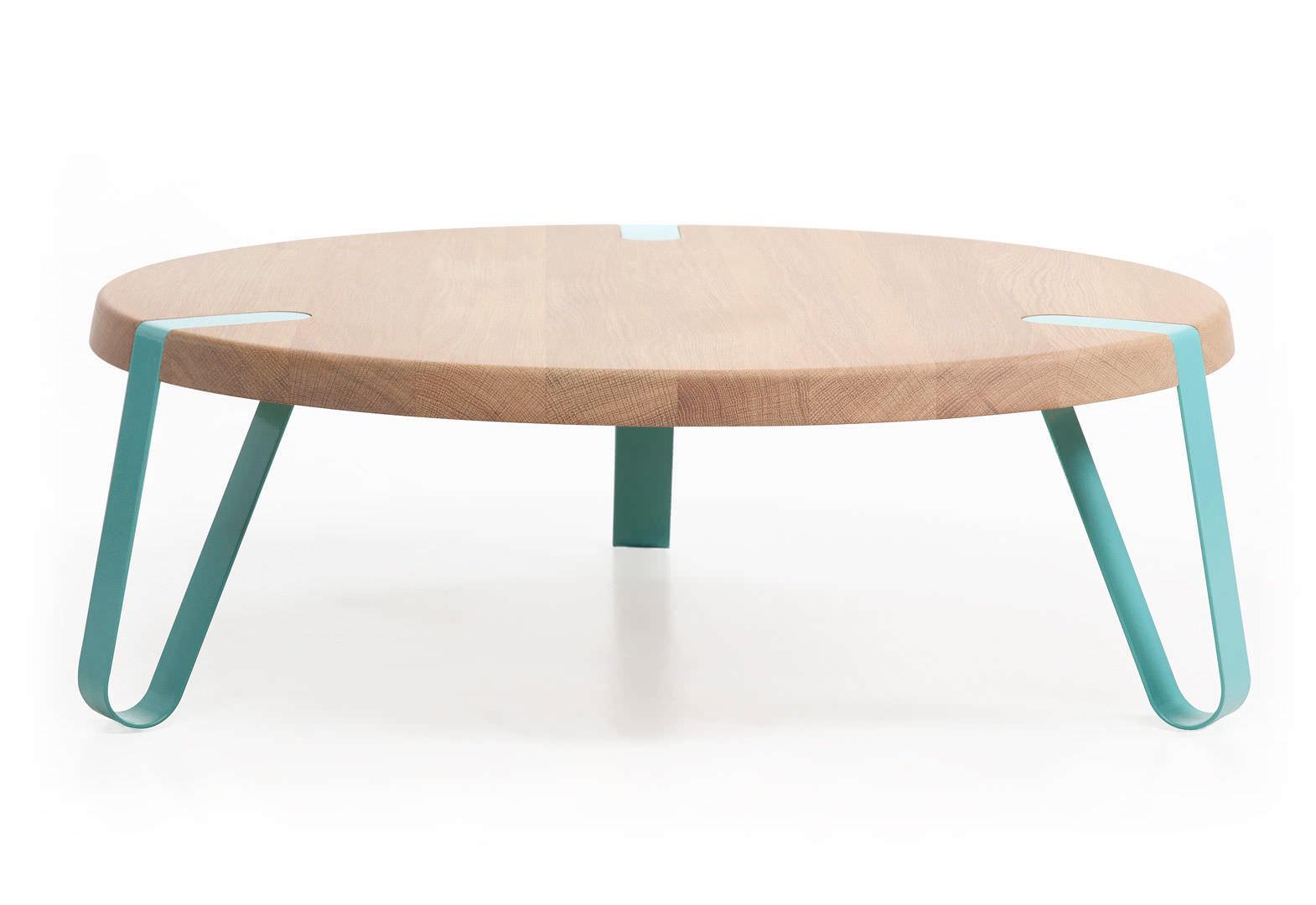Dutch Design Moderner Couchtisch Holz Rund Innenbereich Level By Erik Remmers Odesi