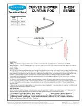 b 4207x60 curved shower curtain rod