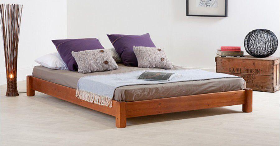 Cama de matrimonio - LOW PLATFORM - Get Laid Beds - de diseño minimalista / de madera / 200x200 cm